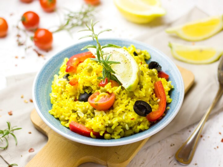 Fried rice is best with dry fruits