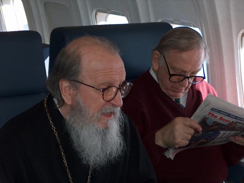 Archbishop Demetrios and John Brademas