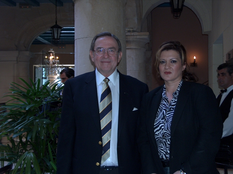 With the former King of Greece, Constantine II