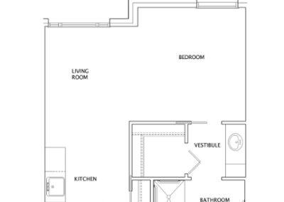 Live Oak Studio Floor Plan