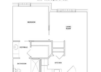 Live Oak One Bedroom Plan