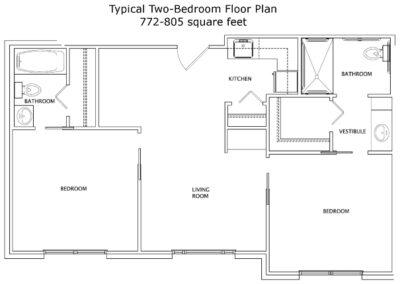 Live Oak Two Bedroom Plan