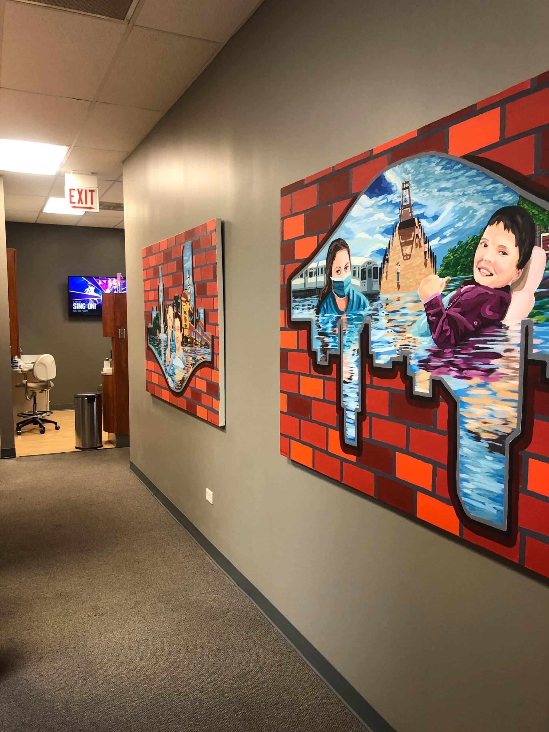 Dentist Office California Ave Hallway art