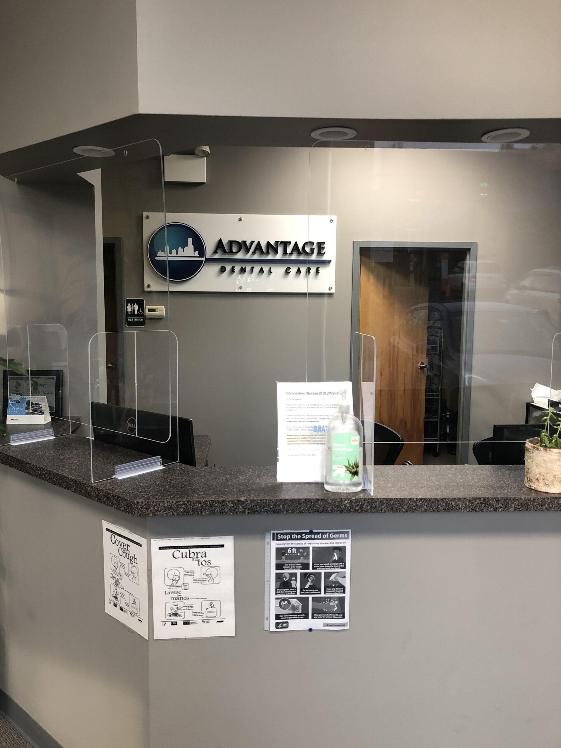 Dentist Office California Avefront desk plexiglass