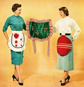 retro apron christmas