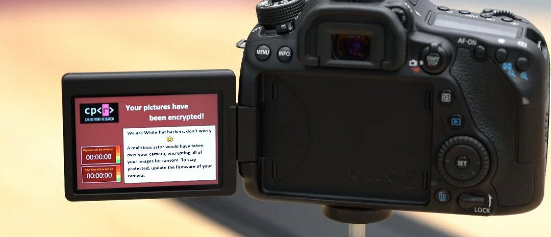 Canon DSLR Camera Infected with Ransomware Over the Air