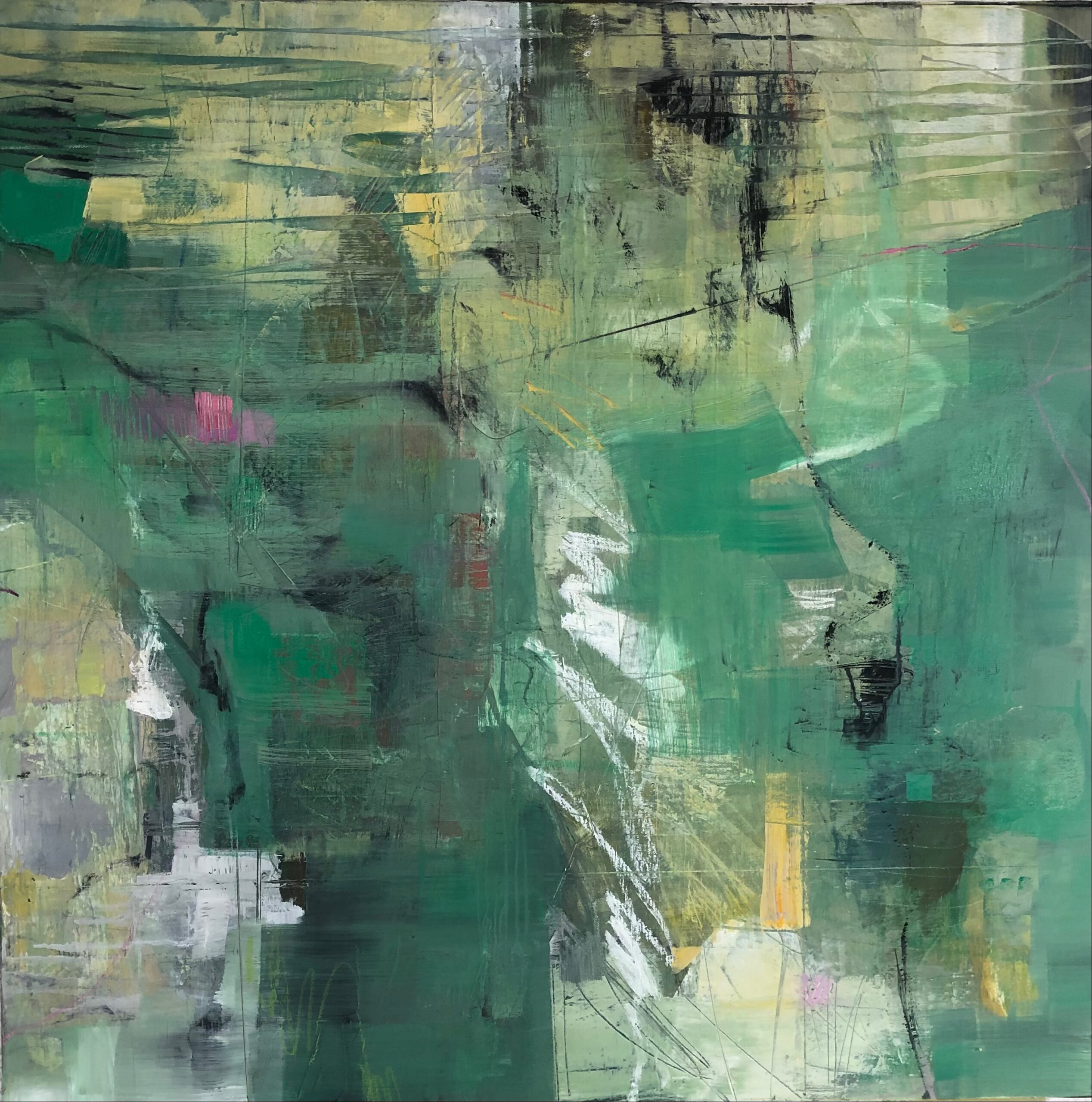 green abstract flowing