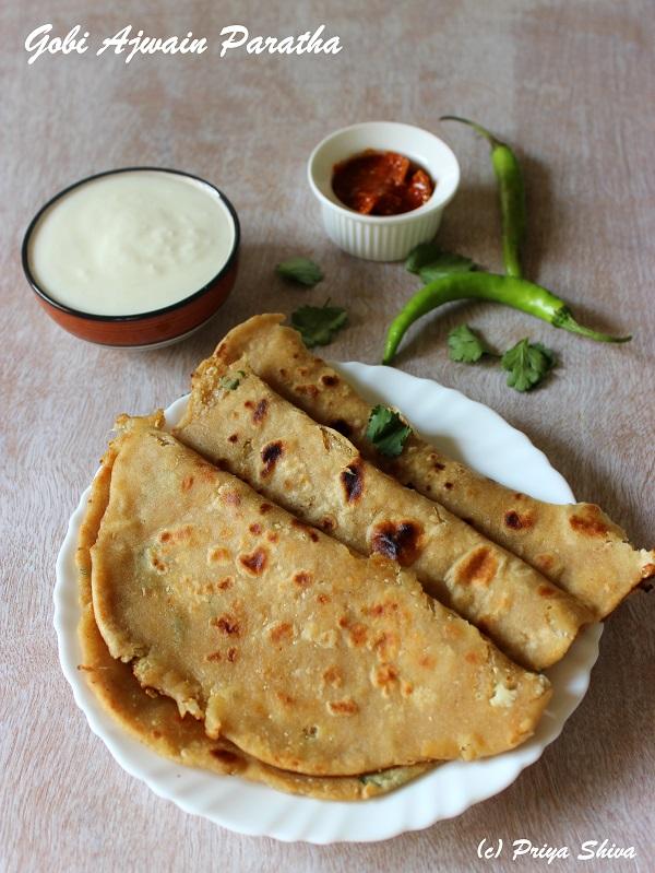 Gobi Ajwain Paratha recipe