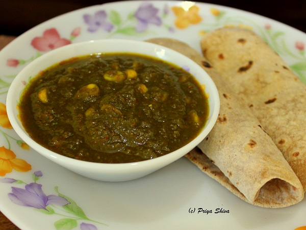 spinach corn Curry1