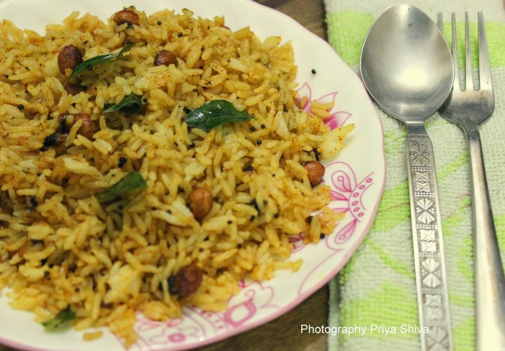 Tamarind rice, rice, recipe, vegan