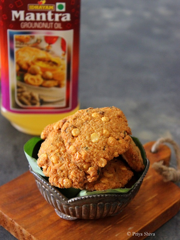paruppu vadai using idhayam mantra groundnut oil