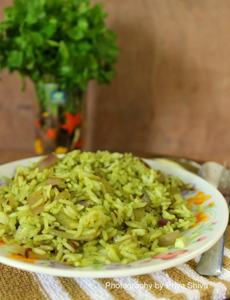rice, recipe, kothamalli rice