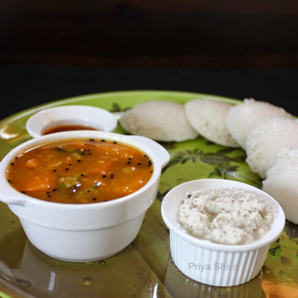 carrot sambar, sambar, recipe