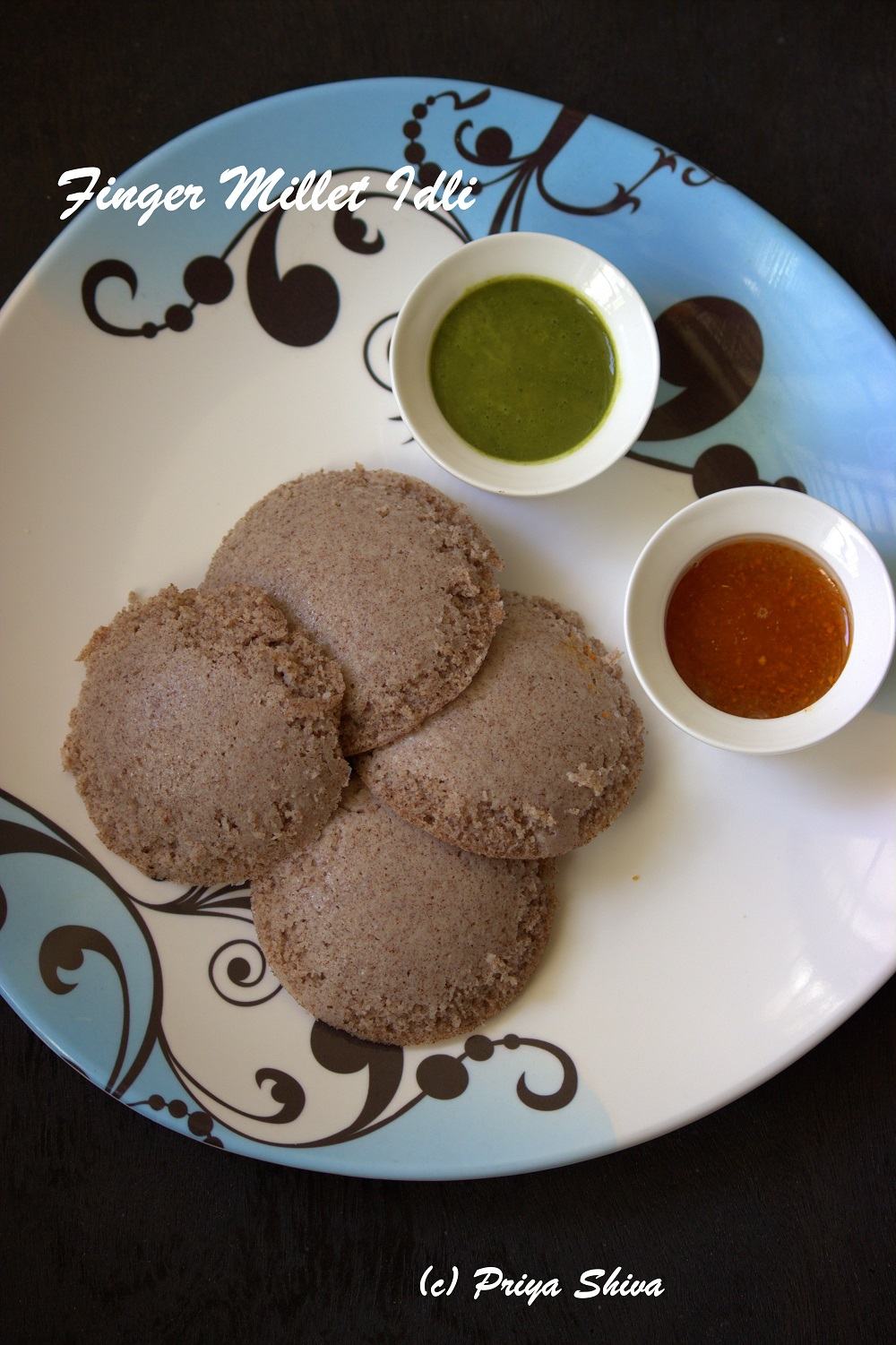 gluten free, oil free made with ragi flour.