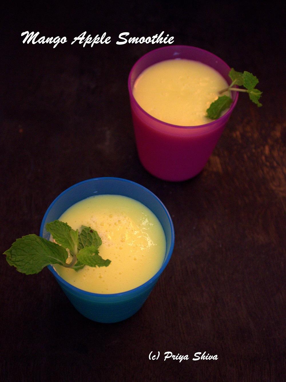 mango apple milkshake