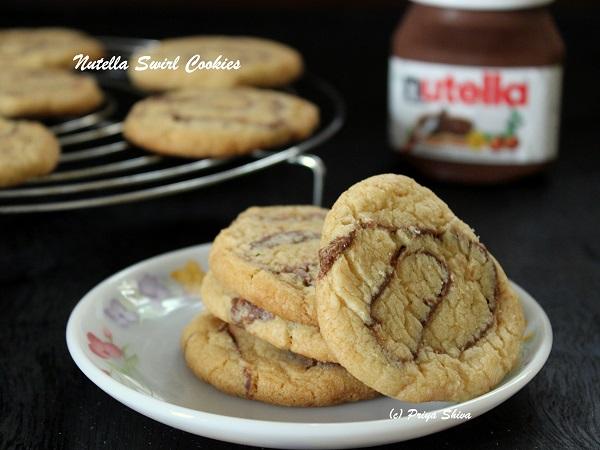 nutella swirl cookies