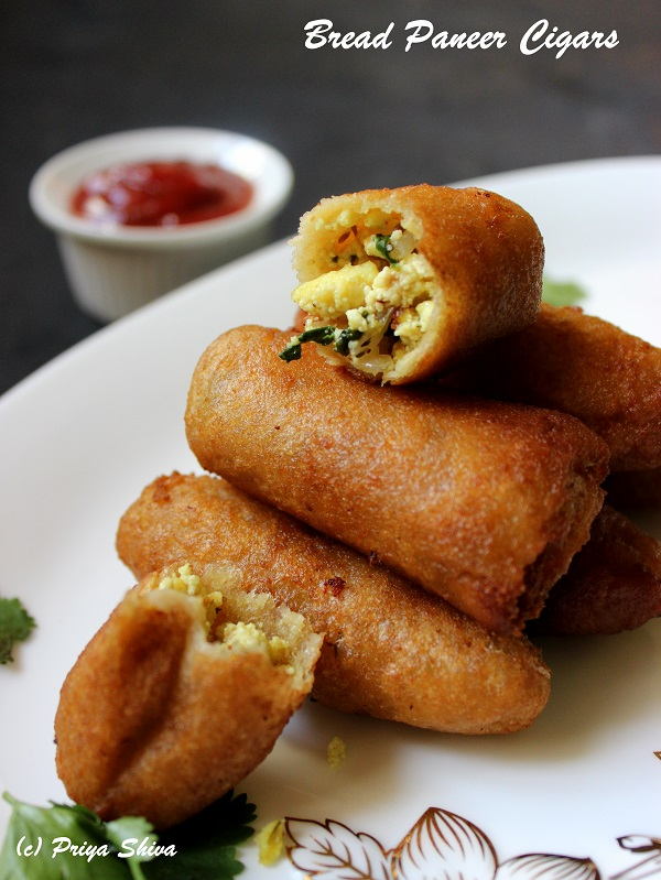 Bread Paneer Cigars