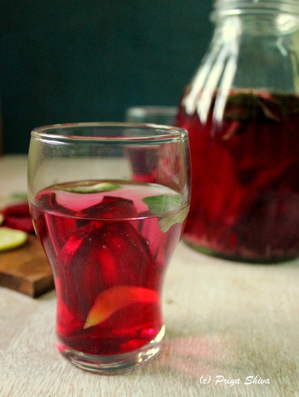 beetroot curry leaves detox water recipe