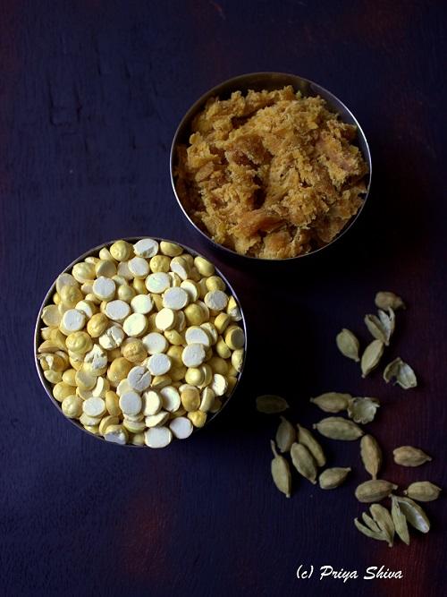 ingredients for pottukadalai urundai