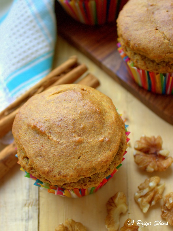 vegan cucumber banana muffin