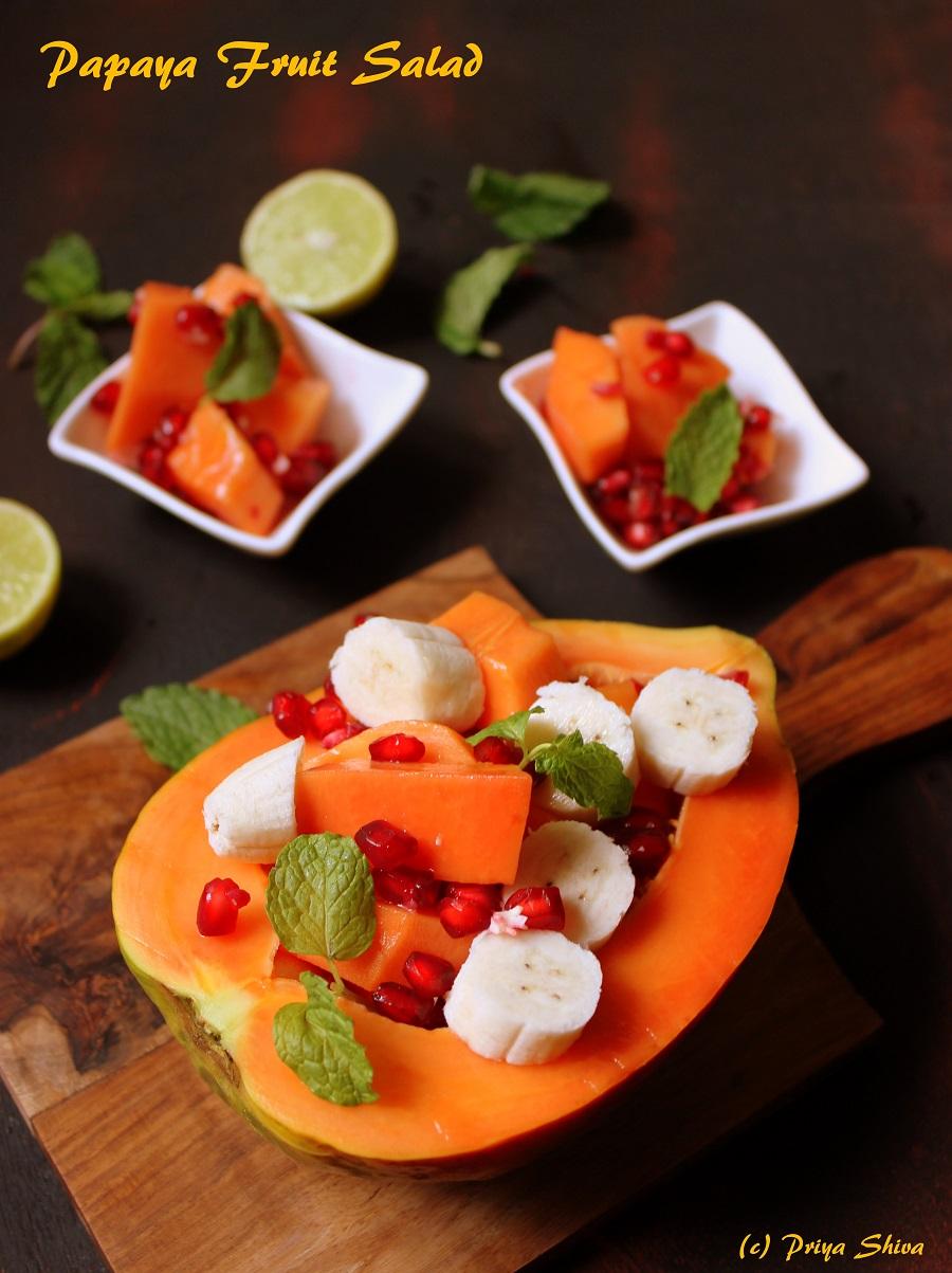 papaya boat, papaya salad