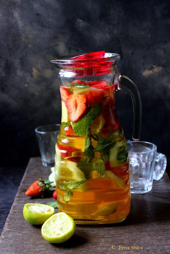 Strawberry Cucumber Iced Green Tea recipe