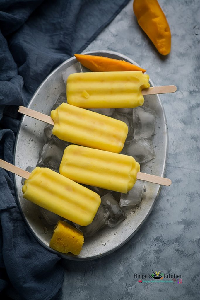 Mango Pineapple Smoothie Popsicle