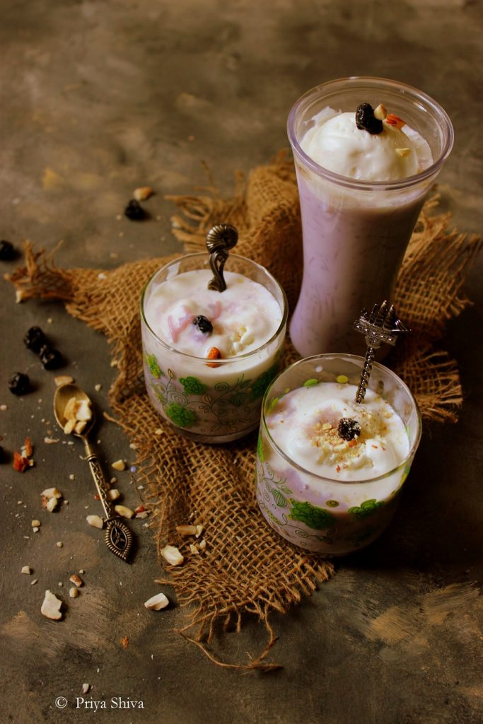 blueberry falooda ice cream