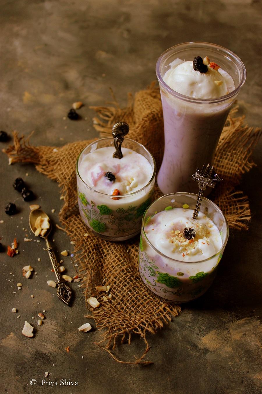 blueberry falooda ice cream
