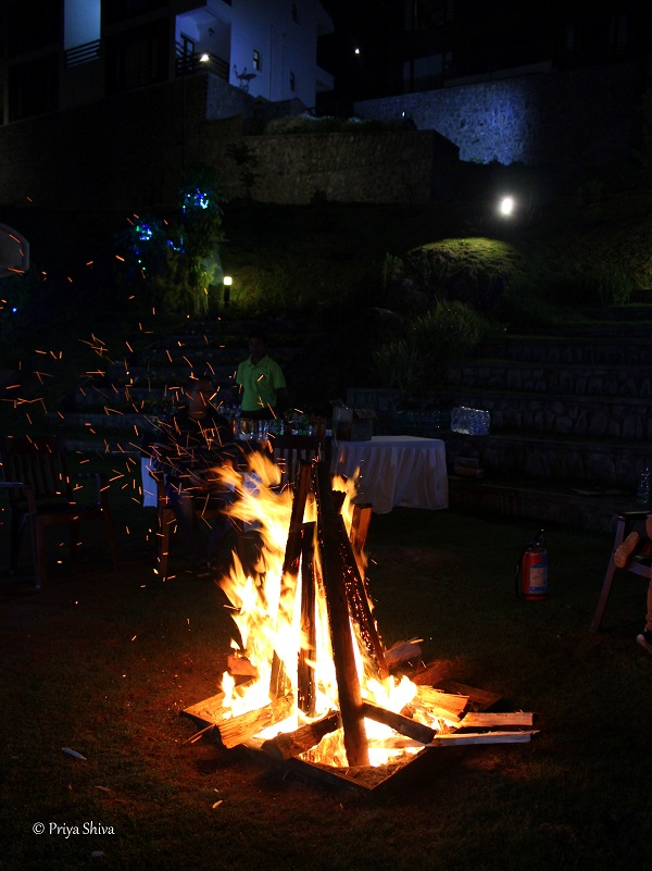 bonfire party at kodaikanal
