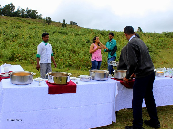 lunch by berijam lake kodaikanal