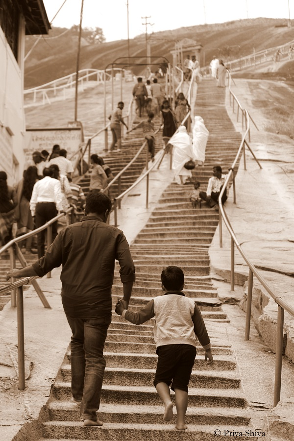700 steps in shravanabelagola temple