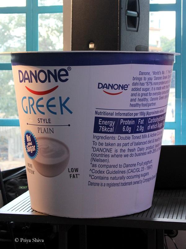 danone Greek style plain Yoghurt