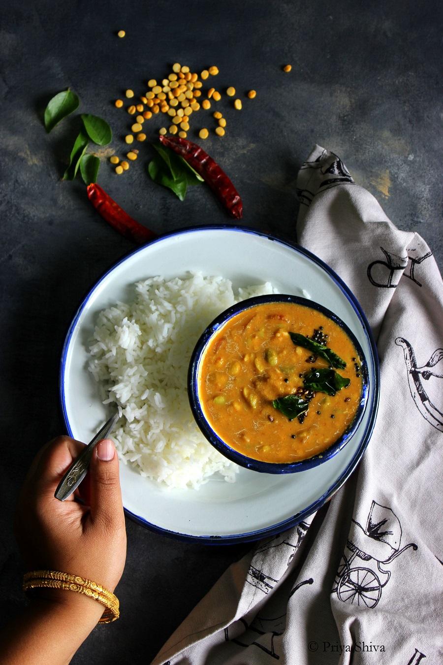 Avarekalu Huli Saru Recipe - Field Beans Curry