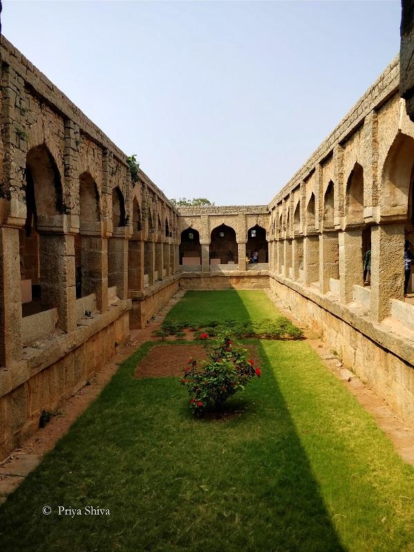 Guards enclosure hampi