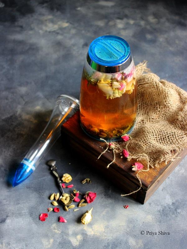 rose cardamom green tea detox