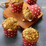 eggless carrot banana muffin