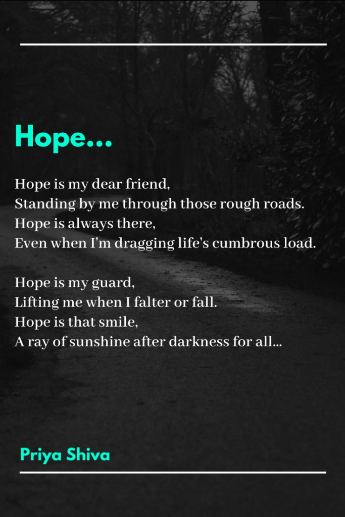 hope poem by Priya Shiva