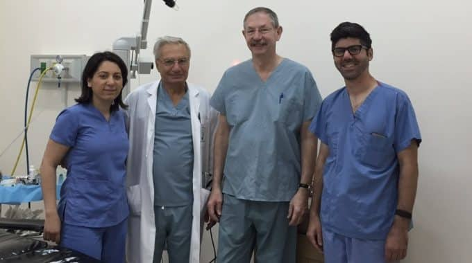 Dr. Lilit Garibyan (left) At Armenian Hospital, Helping To Transfer Dermatology Laser Technology