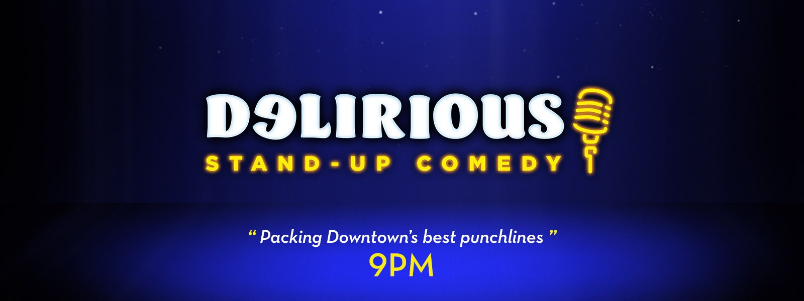 Delirious Comedy Club Logo