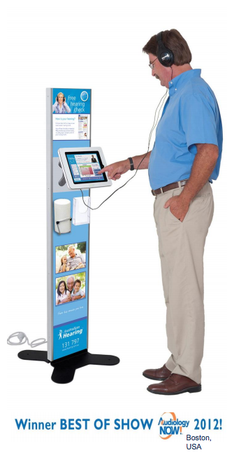 touch screen hearing test kiosk