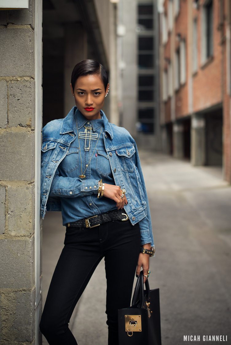 Micah Gianneli_Best top personal style fashion blog_Street style editorial_Levi's editorial campaign_Triple double denim_Vera Xane_Save the Last Pinker_Androgynous model girl-