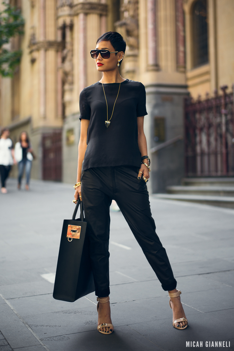 Micah Gianneli_Best top personal style fashion blog_All black editorial_Androgynous model_Street style editorial_Thierry Lasry_Sophie Hulme_Celine_Save the Last Pinker_Holystone_Wanted Shoes