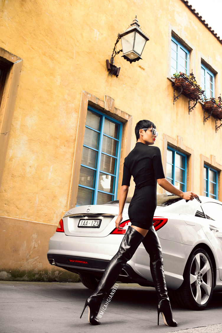 Micah Gianneli_Best top personal style fashion blog_Rihanna Riri style_Car fashion editorial_Mercedes editorial campaign_Mercedes-Benz CLS editorial campaign review_Secret South_Tony Bianco_Pared Eyewear_Luxury editorial