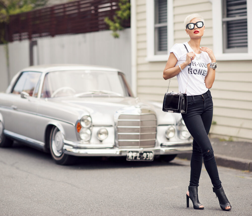 Micah Gianneli_Top fashion style blogger_Nine West campaign editorial_Streetstyle_J Brand Jeans_Stylestalker_Platinum blonde hair