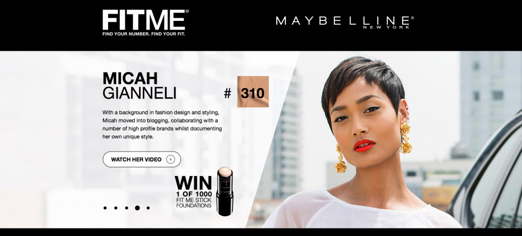 Maybelline - FitMe Campaign - Micah Gianneli
