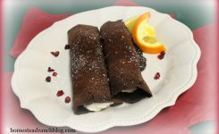 Chocolate Orange Crepes With Cream Cheese Filling