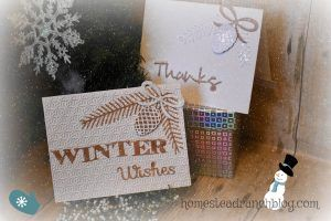Winter card making