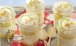 Key Lime Cakes in Mason Jar