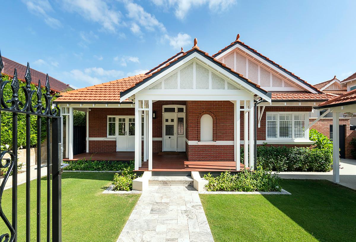front elevation with gable verandah